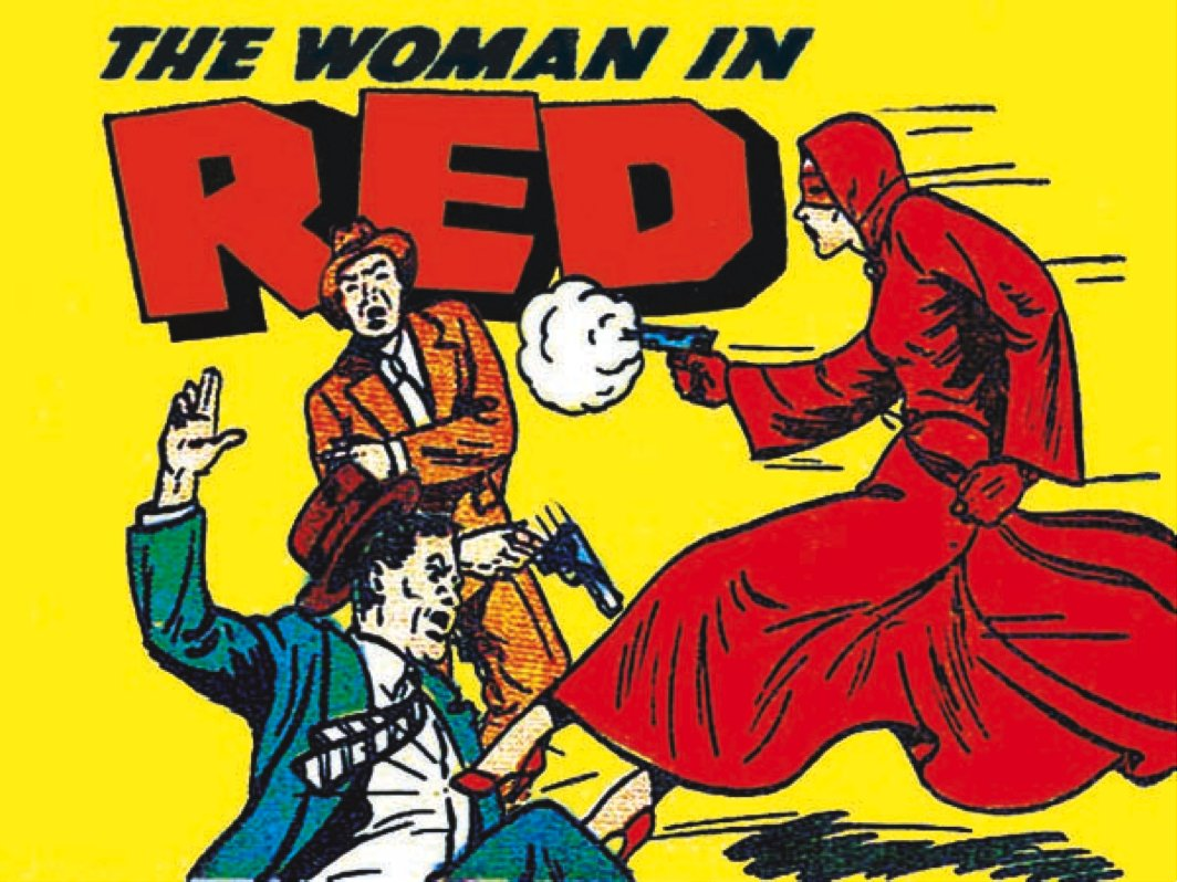 woman in red public domain super heroes fandom powered