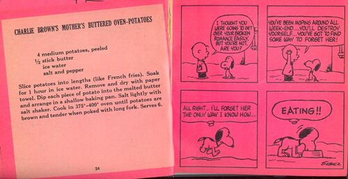 Charlie Brown's Mother's Buttered Oven-Potatoes