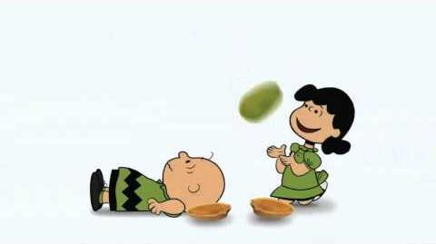 Lucy of the Peanuts gang does it for kicks Wonderful Pistachios Get Crackin' Commercial