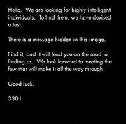 Cicada 3301 Message