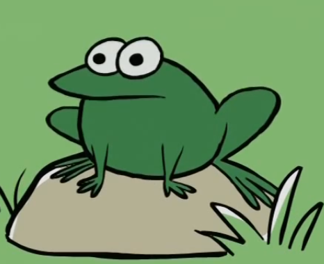 File:Frog on a rock.PNG