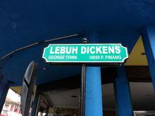 Dickens Street sign, George Town, Penang