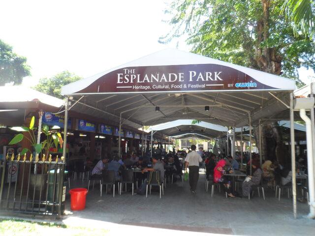 File:The Esplanade Park hawker centre, George Town, Penang.JPG