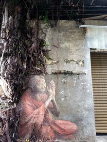 Old Indian Woman mural, Lumut Lane, George Town, Penang