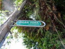 York Road sign, George Town, Penang