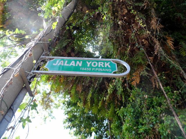 File:York Road sign, George Town, Penang.JPG