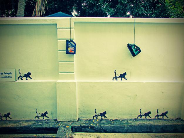 File:Cats Walking for Animal Awareness Mural, Beach Street, George Town, Penang.jpg