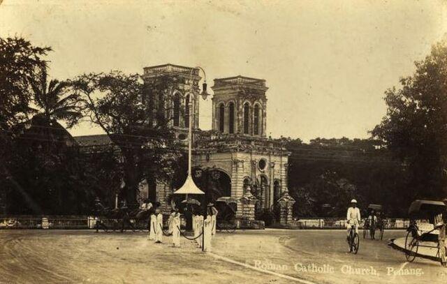 File:Church of the Assumption, Farquhar Street, George Town, Penang (1945).JPG