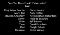 Are You There Frank? Its Me King Julien Voice Cast