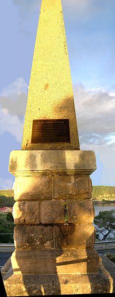 Adam Lindsay Gordon obelisk