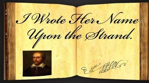 I Wrote Her Name Upon The Strand by Edmund Spenser - Poetry Reading-1452472976