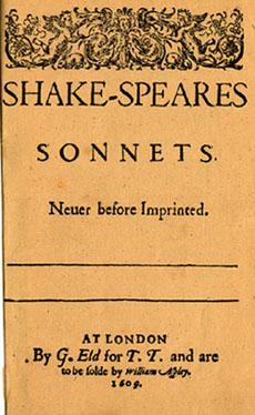 Sonnets-Titelblatt 1609