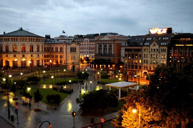 File:2 of 10 - Karl Johan Gate at Night, Oslo - NORWAY.jpg