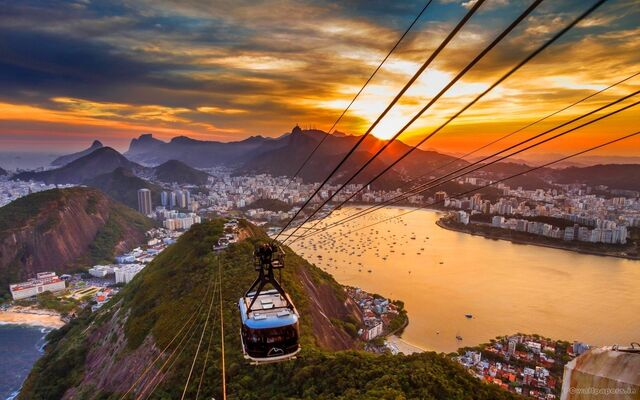 File:Cable cars into the sunset.jpg
