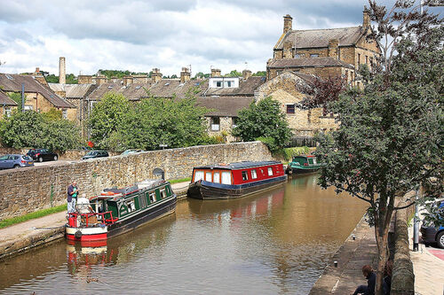 Canal boats in Skipton