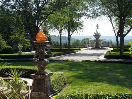 Kykuit, Tarrytown, NY - view from entrance