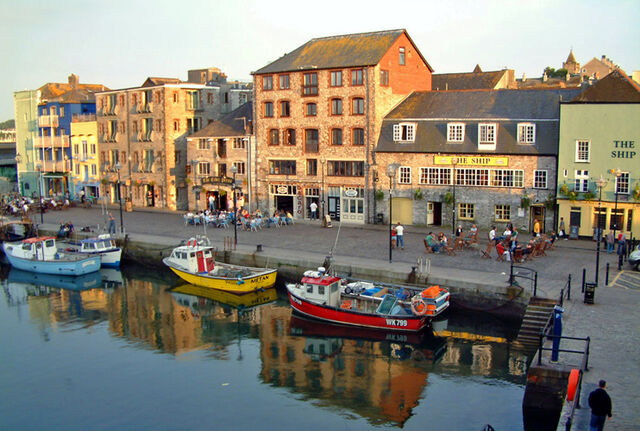 File:Plymouth Barbican and harbour.jpg