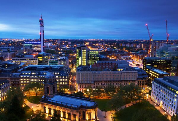 Gorgeous city lights of Birmingham UK