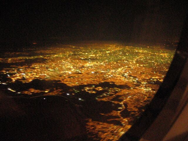 File:Lights from airplane.jpg
