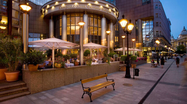 File:Street outside Kempinski Hotel Corvinus.jpg