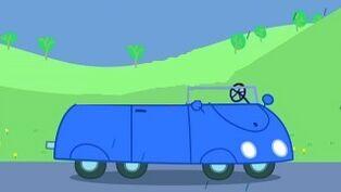 Blue car peppa pig
