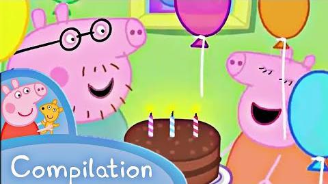 Peppa Pig English Mummy Pig's Birthday Compilation