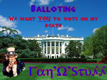 Balloting fan