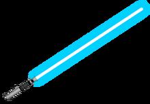 Lightsaber, silver hilt, blue blade