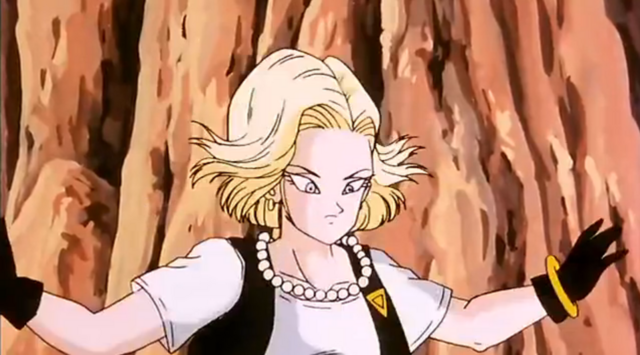 File:Android 18 pinned to the wall.png