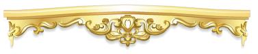 Gold rococo valence rail