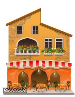 Venetian cafe decal