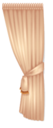 Tan Rococo Style Curtain Left