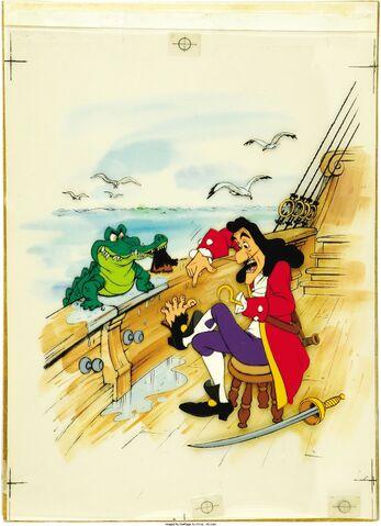 File:Peter Pan Captain Hook Book Illustration Original Art (Walt Disney, undated).jpg