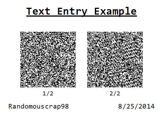 Text Entry Example