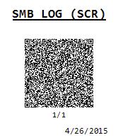 SMB LOG (SCR)