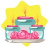 Cute candle set