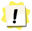 Exclamation mark sticker