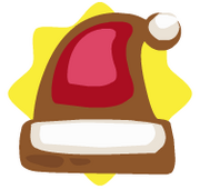 Santa's hat ornament
