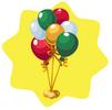 Toy shop balloon bunch
