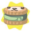 Green petling biscuit