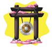 Japanese garden gong