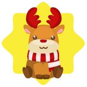 Cute reindeer plushie