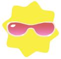Pink sport shades