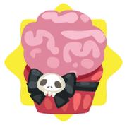 Halloween brain cupcake