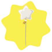 White star balloon