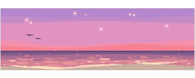 Romantic beach wallpaper expanded