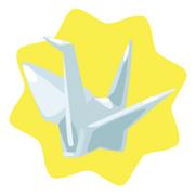 White paper crane