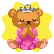 Bear princess plushie