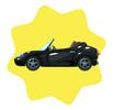 Shiny black roadster