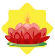 Red lotus candle